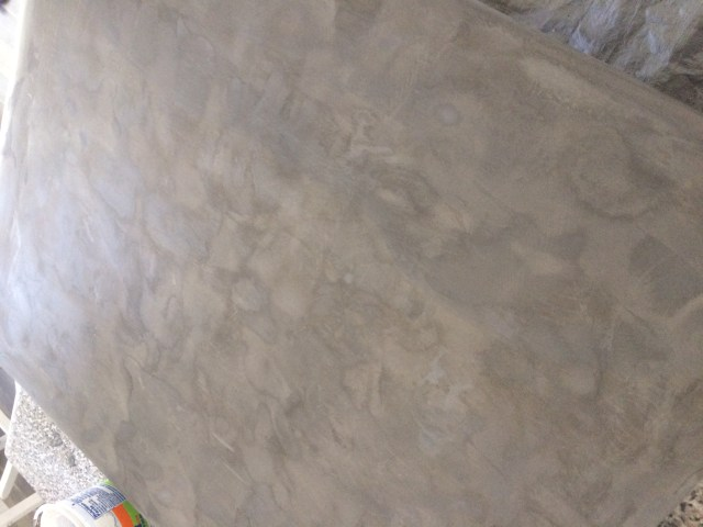 Gray concrete stain