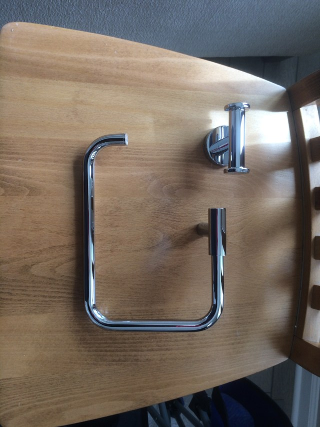 Kohler Purist hand towel bar and robe hook