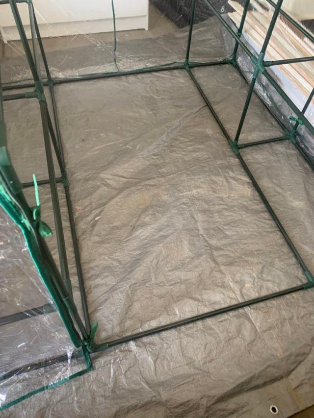 Greenhouse floor tarp