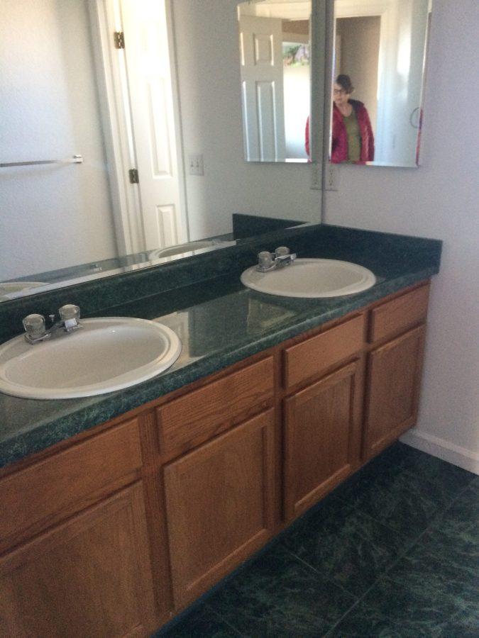 Family bath sink cabinet
