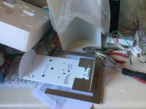 Rewiring curved light for standard socket