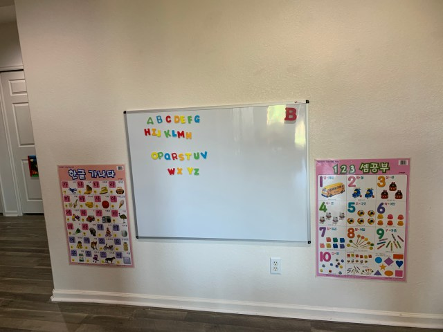 White/Magnetic board and posters