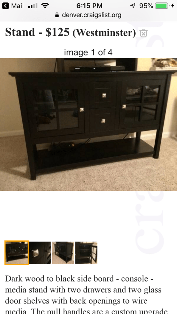 Sideboard to match table
