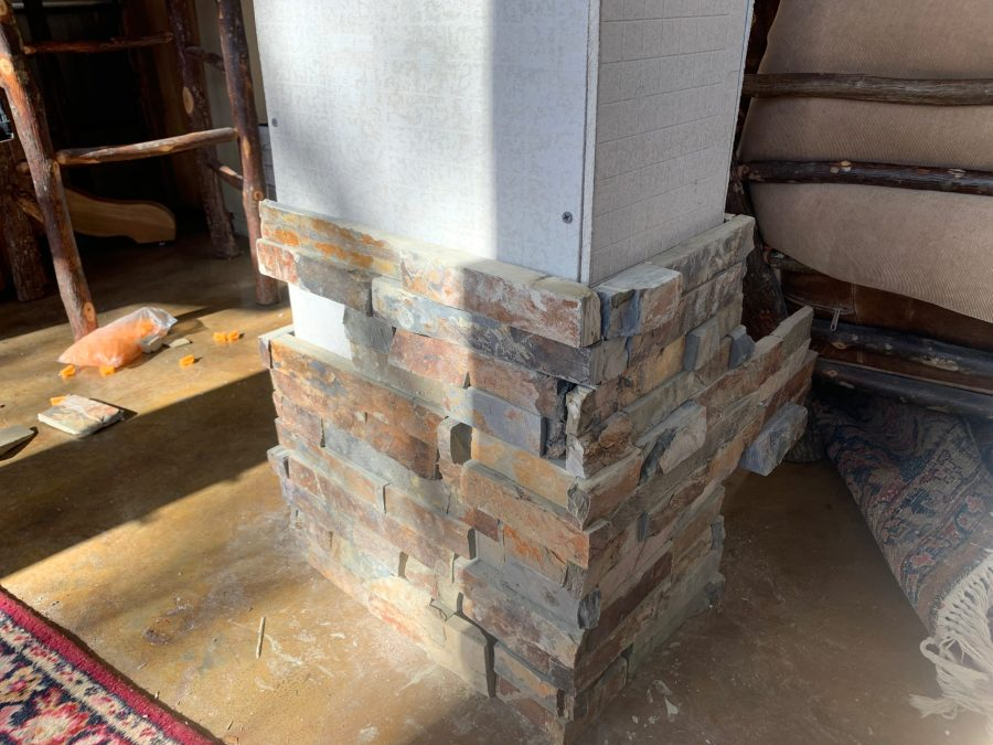 Dry stacked tiles