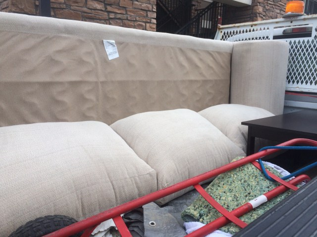 Couch in truck