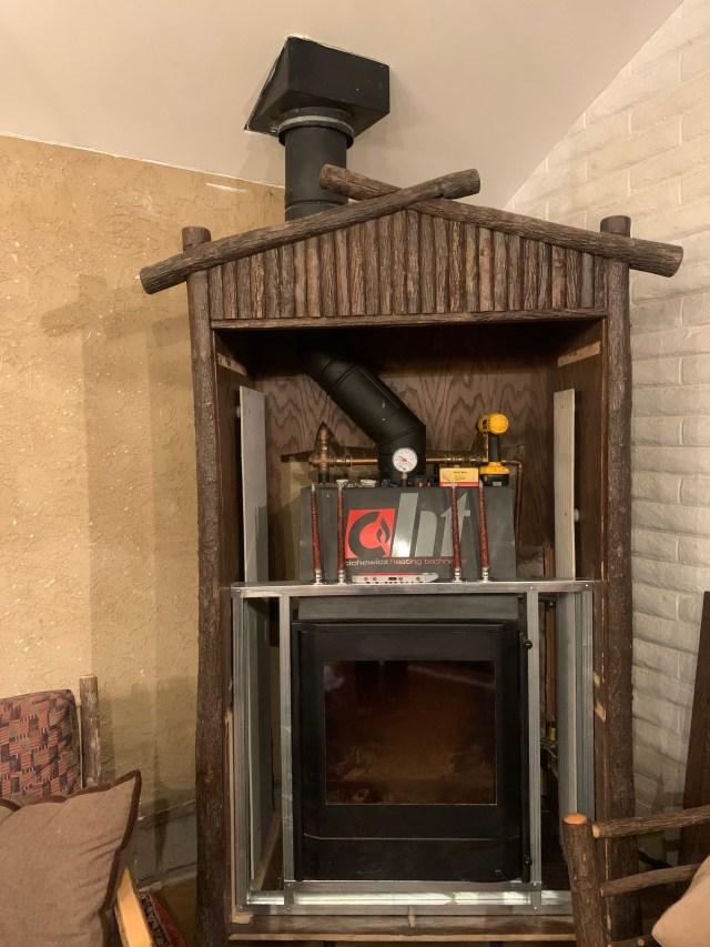 Chimney reinstalled