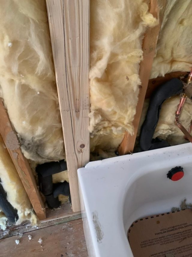 Insulated hot water pipes