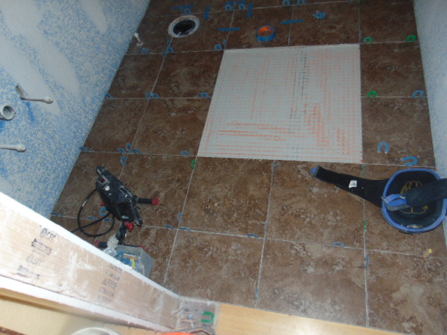 Tile Floor with insert