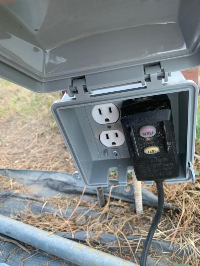 Pump GFCI plugged in