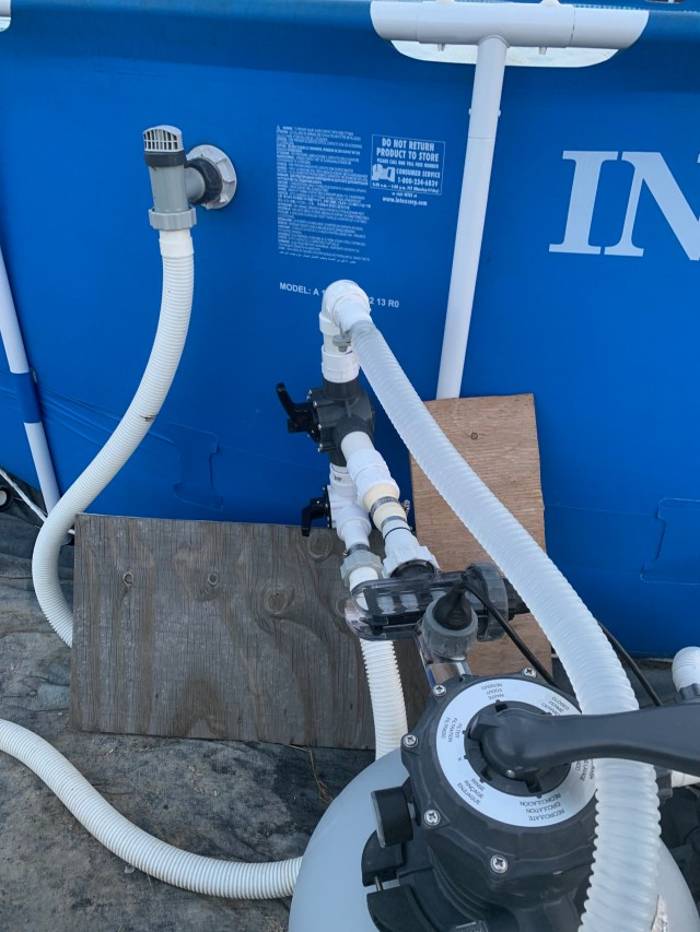 Pool connections from filter to solar panel and return