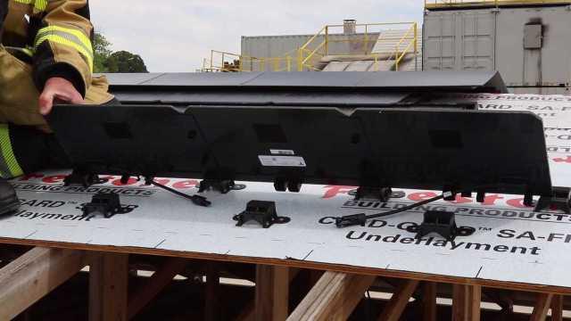 Tesla solar roof pivot attachment
