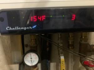 Boiler firing.