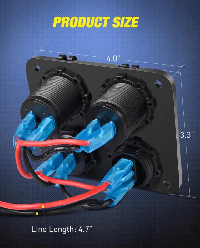Socket panel wiring