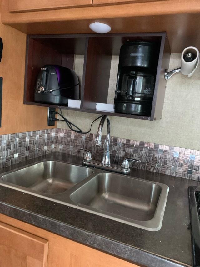 Cabinet over sink