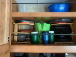 Extra kitchen cabinet shelves