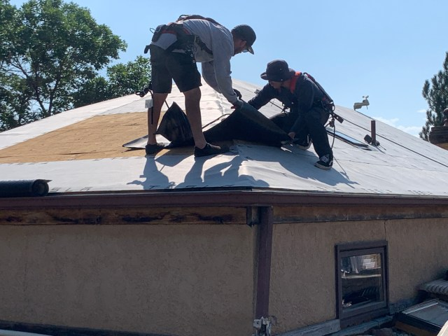 Underlayment is adhesive backing peels off