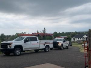 Tesla trucks arrive