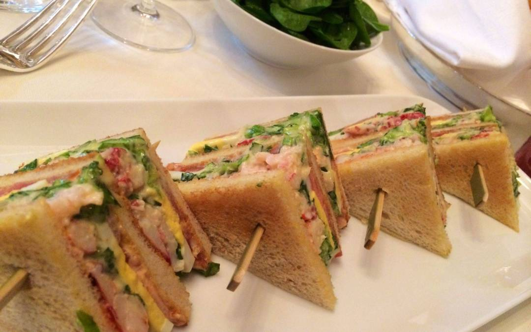 Lobster Club Sandwich George V Style!