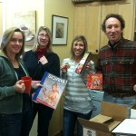 Bess, Gigi, Lindsay and Richard open a package from Sri Lanka