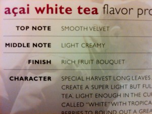 All that flavor in one little sachet of tea.