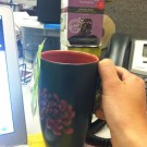 My favorite mug at work -- steepin' some Tropical Green.