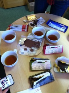 All that chocolate ... all that tea. It's not a bad thing.