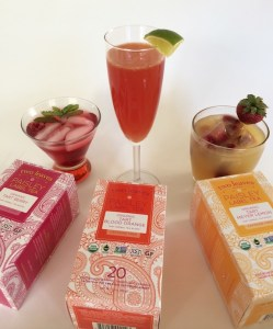 Three new tart herbal teas, meet three new tea cocktails.