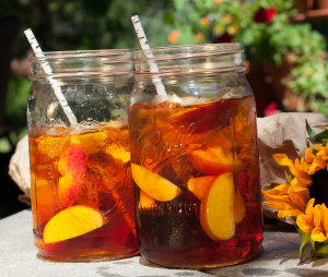 Nectarine and Basil Black Iced Tea