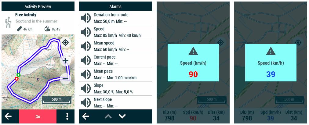 GPS TwoNav : Modification apportée au fonctionnement des alarmes