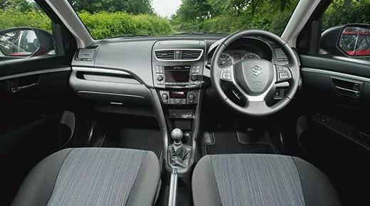 Suzuki Swift facelift interior (c) Suzuki
