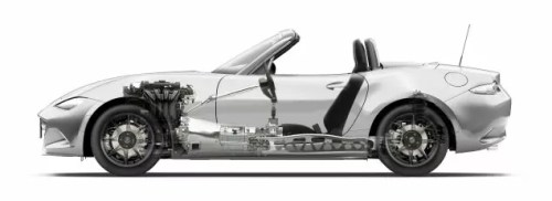 All New Mazda MX-5 chassis side view