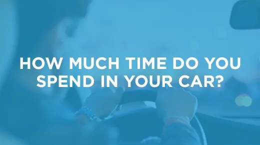 How much time do you spend in your car | Infographic