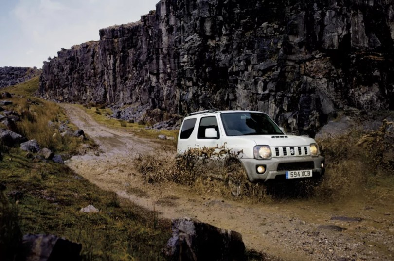 Jimny Adventure driving through the mud