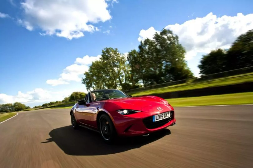 Mazda MX5 on racetrack