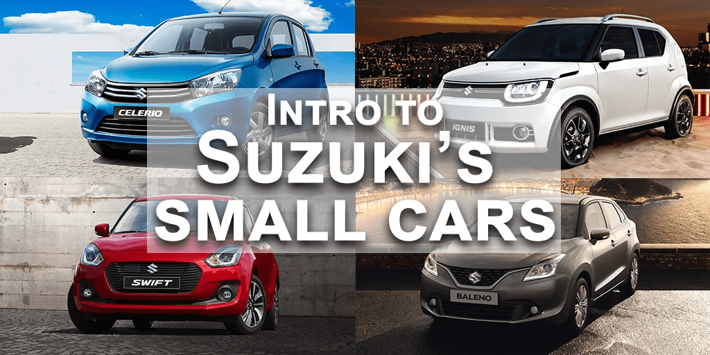Intro to Suzuki's Small Car Range