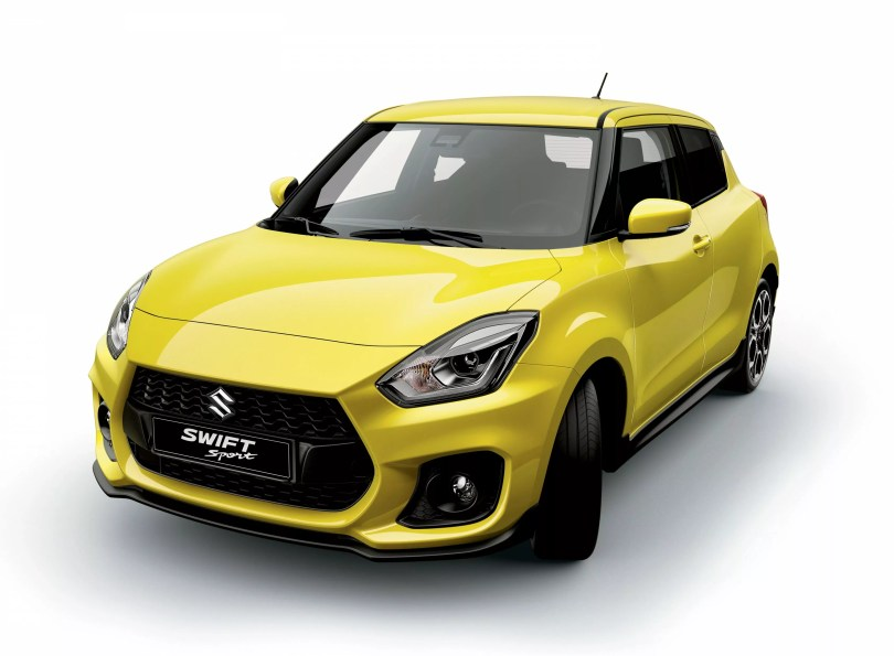 2018 Suzuki Swift Sport Front and side view