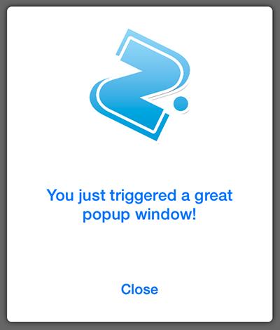 iOS - Pop Up window