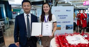 UAS Supports Sichuan Airlines on Inaugural Flight to Rome