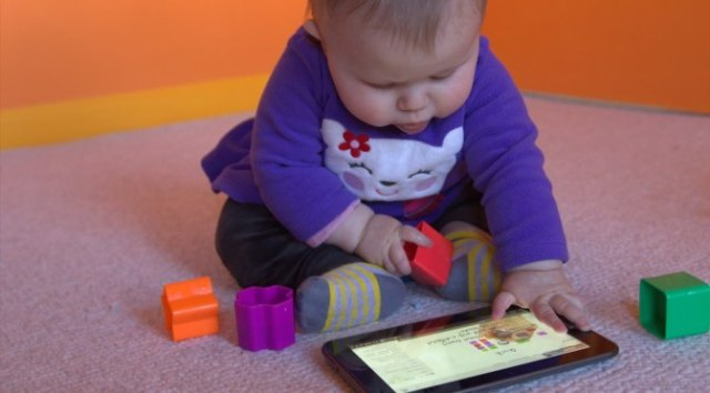 """Many things happened in the last year, including our newest and youngest Udacian (Dave's daughter): here preparing for her """"Building a Quantum Holodeck"""" course"""