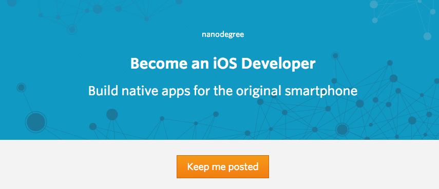 Course Announcement for iOS Developer Nanodegree: Intro to