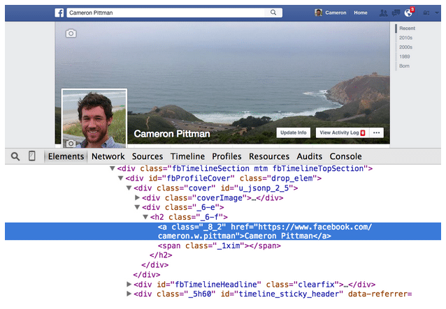 Inspect elements using DevTools.  via udacity.com