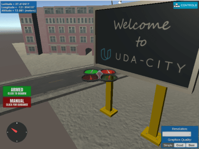 Flying Car Nanodegree program - Udacity - Classroom Simulator