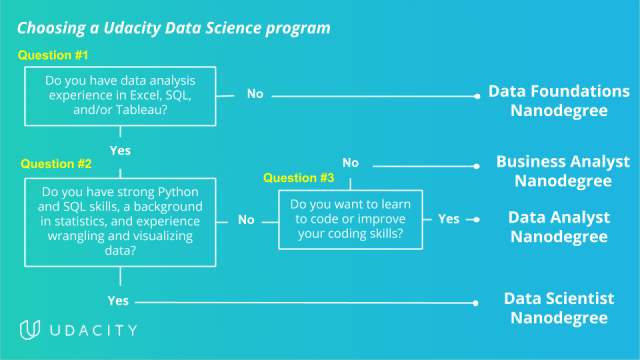 Udacity School of Data Science program paths