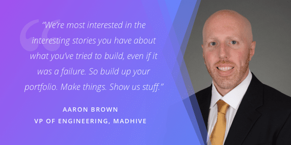 Aaron Brown Blockchain Hiring Manager Quote