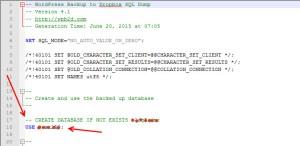 שינוי בקובץ ה- SQL
