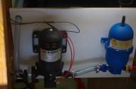 Pumpe mit grob Filter und Akkumulatorentank