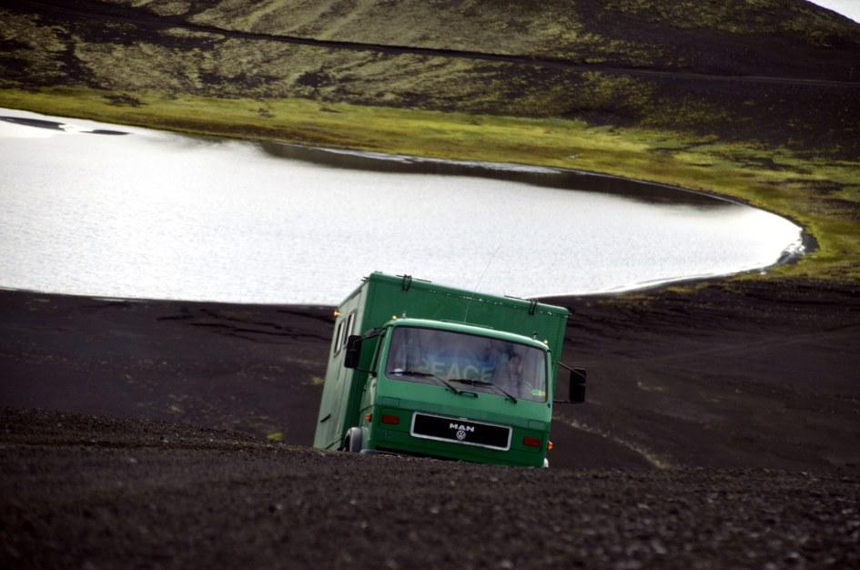 Weg von Langisjór nach Landmannalaugar
