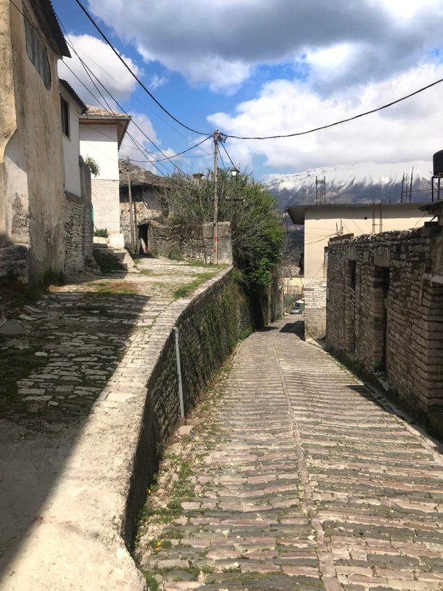 Strasse in Gjirokaster