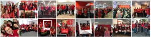 Collage of photos from Fujitsu International Women's Day events