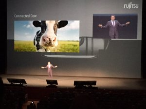 Duncan Tait presenting the connected cow